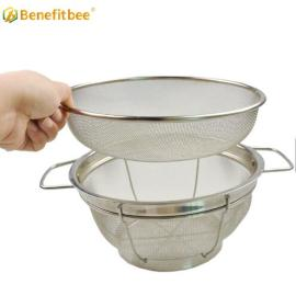 Benefitbee High Quality beekeeping equipment honey strainer Stainless Steel Double Sieve honey filter