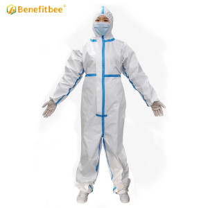 virus isolation Disposabled coverall protection suit safety disposable protective clothing