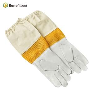 Soft sheepskin beekeeping gloves mesh breathable bee beekeeping equipment Beekeeper Protection Gear