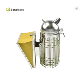 High Quality Eco-friendly Degradable Leather Beekeeping Equitment Stainless Steel (Size-L) Bee Smoker (Heightening)