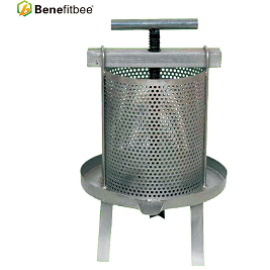 Benefitbee Beekeeping Machine  Knocked Down Iron Wax Press With Splash Collar For High Quality