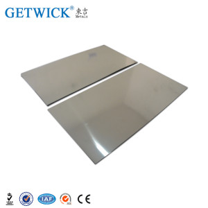 99.95% Tungsten Plate and Tungsten Sheet