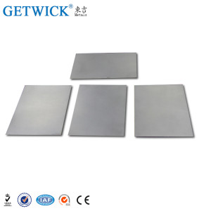 Pure W1 Tungsten Sheet Metal Price per kg from GETWICK