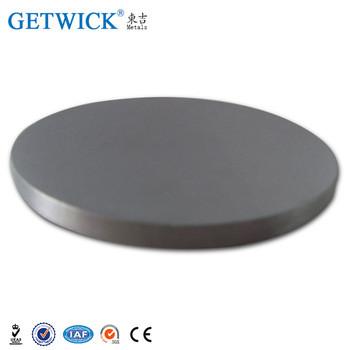 Disco de tungstênio puro para jorrar a vácuo