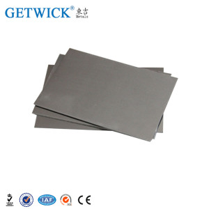 Mass products price tungsten sheet metal with reasonable price