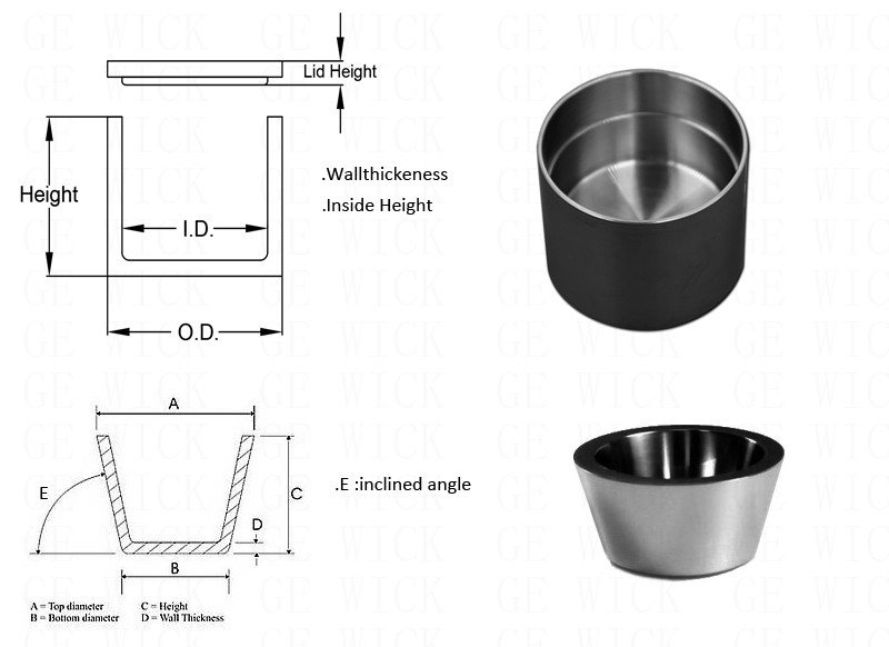 Molybdenum Crucible for Growing crystal