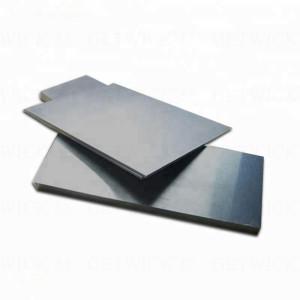 High quality 19.3g/cm3 99.95% Tungsten plate sheet price