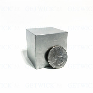 Surface polished smooth pure tungsten cube 2 inch