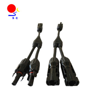 MC4 Connectors Y Branch Parallel Adapter Cable Wire for Solar Panel