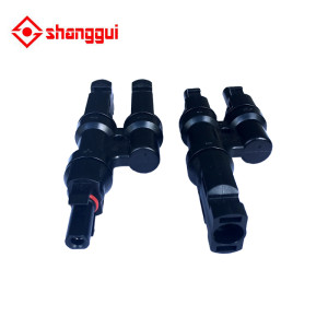 T TYPE BRANCH 2 TO 1 MC4 SOLAR PANEL CABLE CONNECTOR