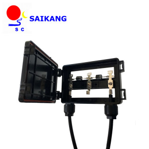 junction box with MC4 connector+ cable, suitable for solar panel 60 to 150w, solar junction box, pv junction box