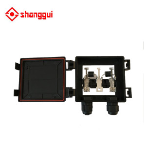 solar junction box without cable suitable for solar panel 60w to 100w ip65