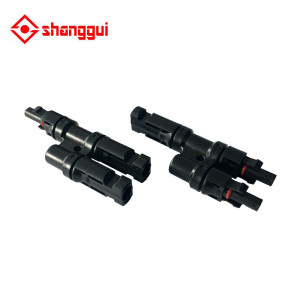 MC4 Solar Panel Cable Connector T Type Connector Male to Female MC4 Coupler IP67