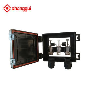 Conector PV de la caja de conexiones solar con 3 terminales 2 diodos para el panel solar 6W-100W