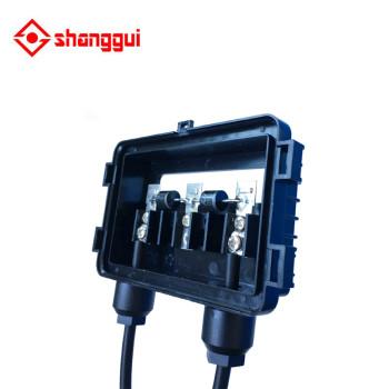 Caja de conexiones del panel solar con conector de 90 cm de cable para 50w a 120w panel solar