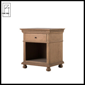 French Provencial bedside table wood nightstand bedroom furniture