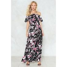 Raise Your Glass Floral Maxi Dress