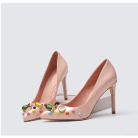Lovely lady shoes with pointed toe high heel shoes for high heel shoe with thin heel