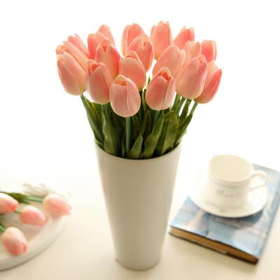 Mini Tulip Manufacturers Artificial Flower Wholesale Export Flowers Wedding Flower Fake Flower Cross-Border