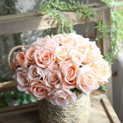Artificial Rose bouquet wholesale retail fake flowers export wedding bouquet home decoration artificial plants