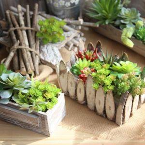 24-branch Sianren artificial flower artificial indoor plant wall micro landscape Succulent artificial plant