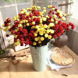 15 heads PE Rose Export Artificial Flower Wholesale Fake Flower Wedding Decoration Home Decoration