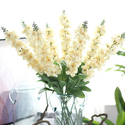Violet Delphinium Artificial Flower Christmas Fake Flower Home Decoration Wedding Decoration