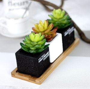 Artificial Gem Lotus Indoor Plant Wall Micro Landscape Artificial Succulent Home Decor Office Decor