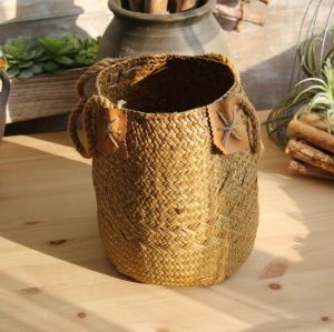 Straw Basket American Country Style Floral Set Flower Arrangement Decoration Household Product Artware
