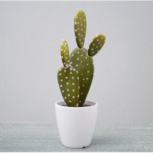 RESUP Artificial Prickly Pear Cactus Succulent - 23cm Tall