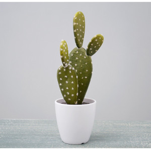 RESUP Artificial Prickly Pear Cactus Succulent - 23cm Tall