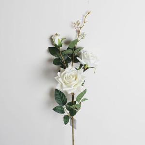 RESUP European Artificial Fabrics Rose 3 Heads 90cm Tall