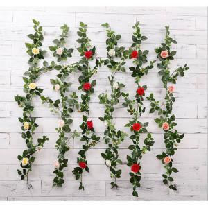 RESUP Artificial Ivy with Rose 135cm Long