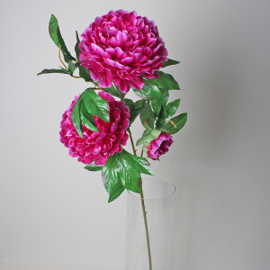 RESUP Artificial Propitious Peony 3-Heads 112cm Tall