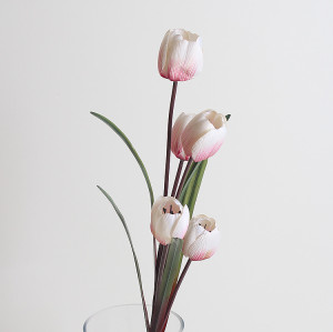 RESUP Artificial Tulip Bouquet 5-Heads 100cm Tall