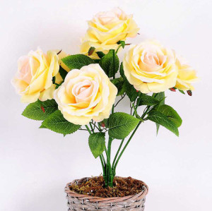 RESUP Artificial Rose Bush 43cm Tall