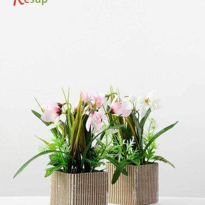 RESUP ARTIFICIAL SNOW LOTUS BONSAI 45cm Tall