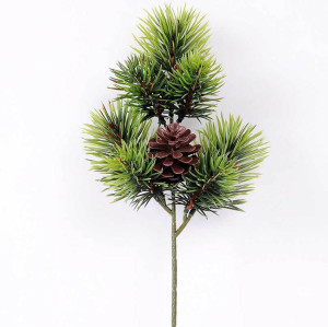 RESUP Artificial Pine Needle & Plastic Pine Cone 38cm Tall