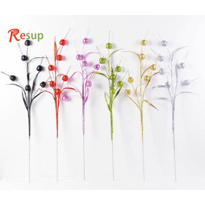 RESUP Artificial Glittering Apple Spray 90cm Tall