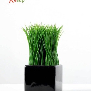 RESUP ARTIFICIAL GRASS IN CERAMIC POT 6'' Tall