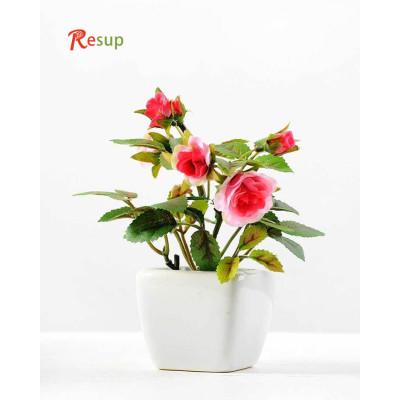 RESUP ARTIFICIAL ROSE IN CERAMIC POT 13cm Tall