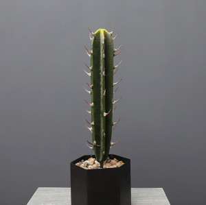 RESUP Artificial Potted Saguaro Cactus for Home Decor 0146 26'' Tall Faux Saguaro Cactus Wholesale China Factory
