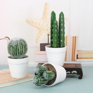 RESUP Artificial Cactus Potted for Home Decor 0260 6.4'' Tall Artificial Cactus Desktop Wholesale China Factory
