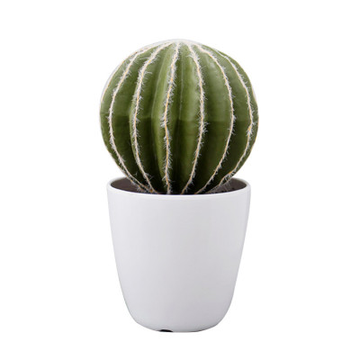 RESUP Artificial Cactus with White Plastic Pot 0150 13.2'' Tall artificial cactus small Wholesale China Factory