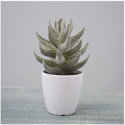 RESUP Artificial Cactus with Plastic Pot for Home Decoration 0148 9.2'' Tall Mini Artificial Cactus Wholesale China Factory