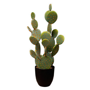 RESUP Artificial Pearly Cactus in Cement Pot for Home Decor 0152 34.8'' Tall Artificial Cactus Flower Wholesale China Factory
