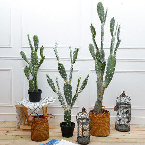 RESUP Artificial Cactus with Basket for Home Decoration 0135 54.8'' Tall Cactus Plant Wholesale China Factory