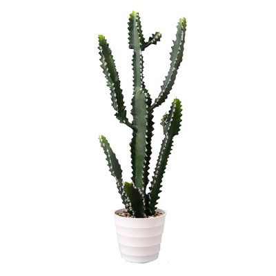 RESUP Artificial Cactus with Plastic Pot for Home Decor 0138 38'' Tall Faux Cactus Instagram Wholesale China Factory