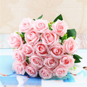 RESUP Artificial Flowers Bouquets For Home and Wedding Decoration 18 Blooms 0502 17.8'' Tall Wholesale China Factory
