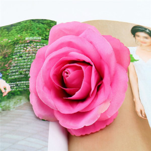 RESUP High Quality Artificial Flowers Head For Home and Wedding Decoration 0498 4'' Tall Silk Rose Bud Wholesale China Factory